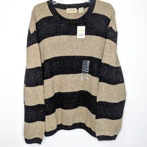 NWT St. John's Bay Striped Sweater XL Wool